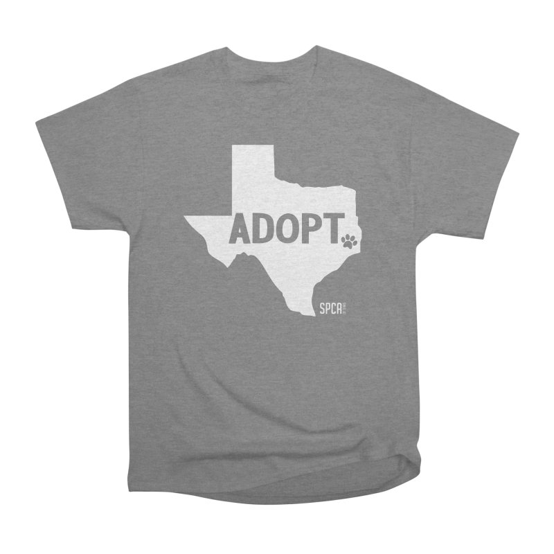 Texas Adopts! Men's Heavyweight T-Shirt by SPCA of Texas' Artist Shop