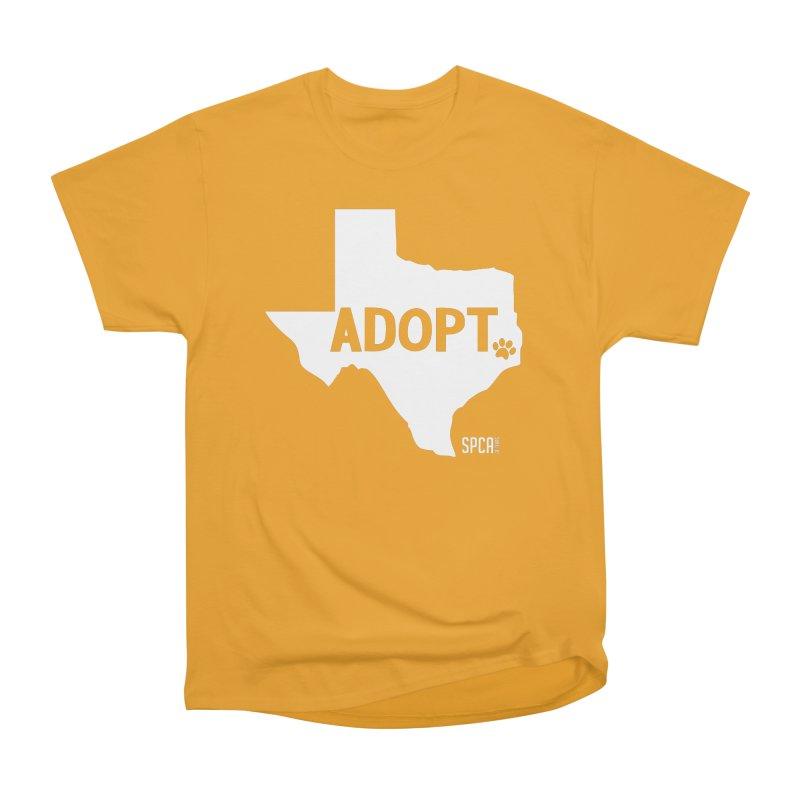 Texas Adopts! Women's Heavyweight Unisex T-Shirt by SPCA of Texas' Artist Shop
