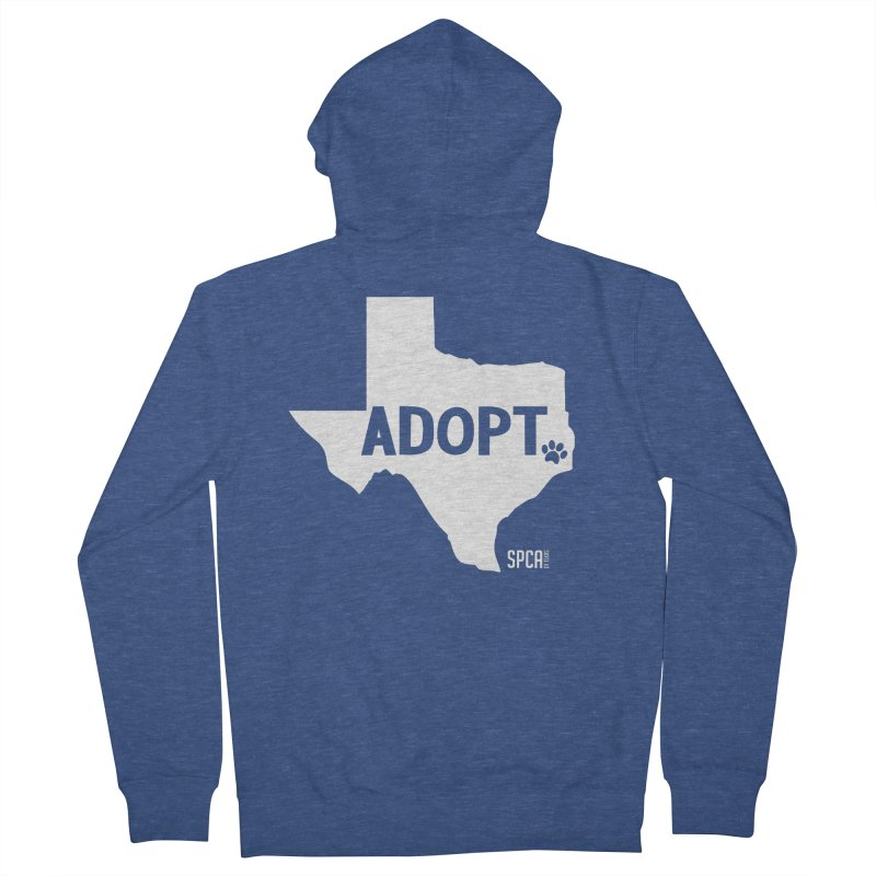 Texas Adopts! Women's French Terry Zip-Up Hoody by SPCA of Texas' Artist Shop