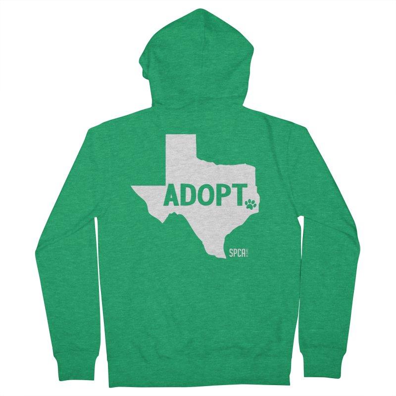 Texas Adopts! Men's Zip-Up Hoody by SPCA of Texas' Artist Shop