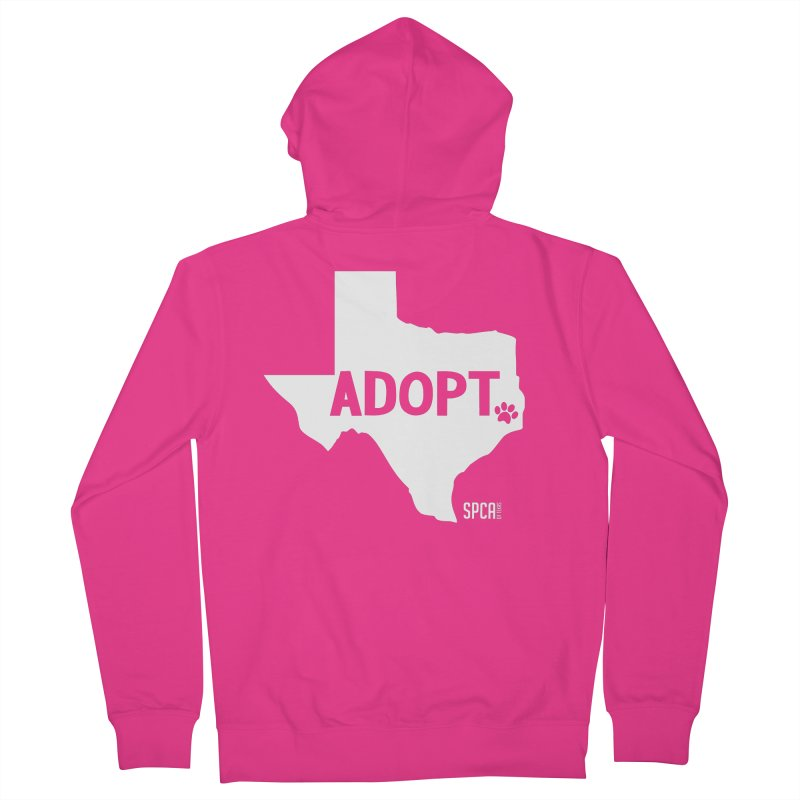 Texas Adopts! Men's French Terry Zip-Up Hoody by SPCA of Texas' Artist Shop