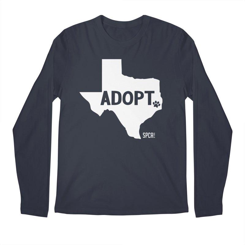 Texas Adopts! Men's Regular Longsleeve T-Shirt by SPCA of Texas' Artist Shop