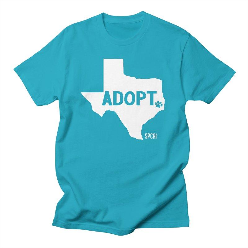 Texas Adopts! Men's Regular T-Shirt by SPCA of Texas' Artist Shop