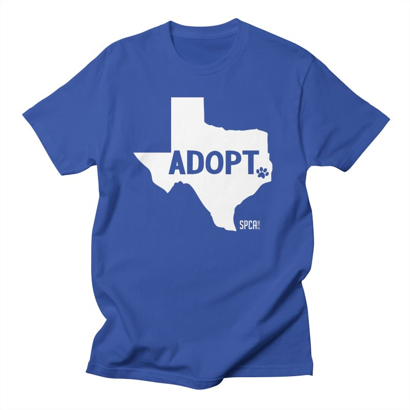 Texas Adopts! Men's Regular T-Shirt by SPCA of Texas' Artist Shop