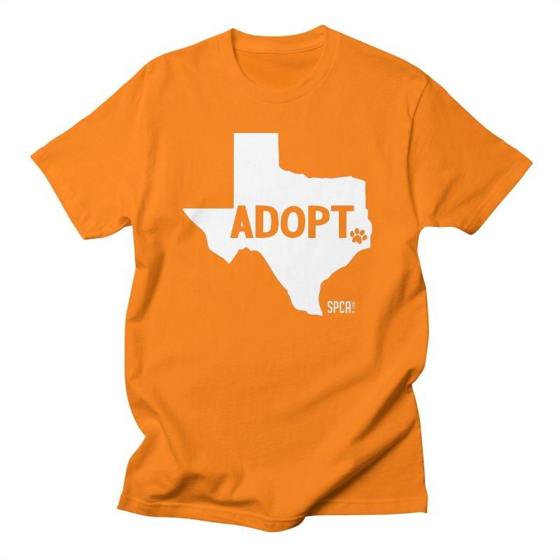 Texas Adopts! Men's T-Shirt by SPCA of Texas' Artist Shop
