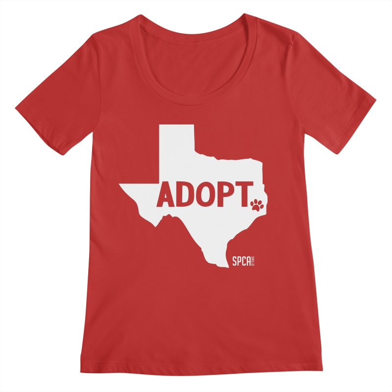 Texas Adopts! Women's Regular Scoop Neck by SPCA of Texas' Artist Shop