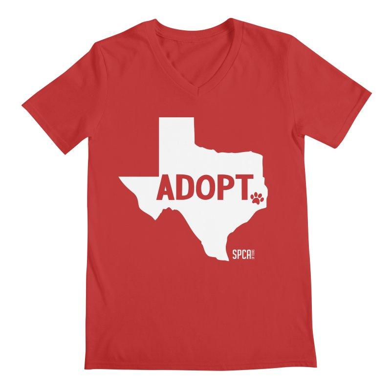 Texas Adopts! Men's V-Neck by SPCA of Texas' Artist Shop