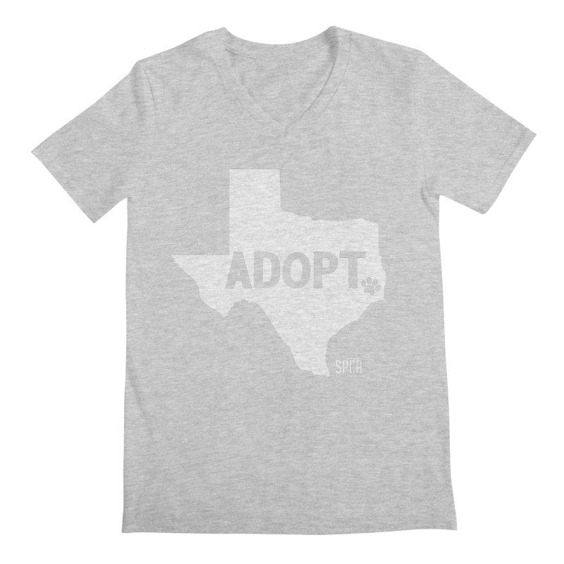 Texas Adopts! Men's Regular V-Neck by SPCA of Texas' Artist Shop