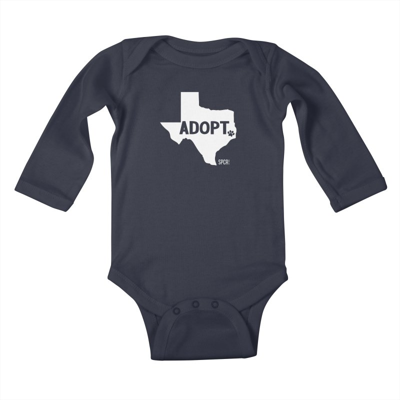 Texas Adopts! Kids Baby Longsleeve Bodysuit by SPCA of Texas' Artist Shop