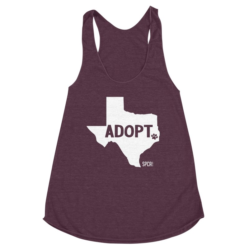 Texas Adopts! Women's Racerback Triblend Tank by SPCA of Texas' Artist Shop