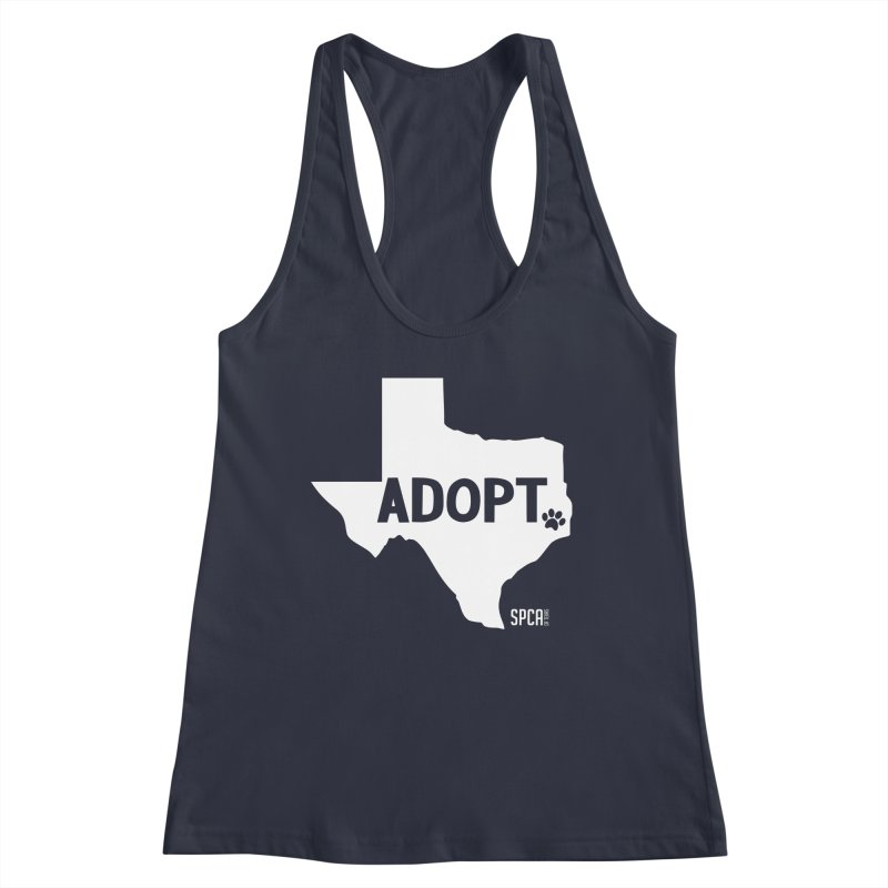 Texas Adopts! Women's Racerback Tank by SPCA of Texas' Artist Shop