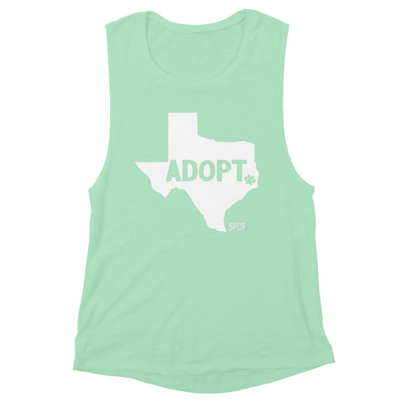 Texas Adopts! Women's Muscle Tank by SPCA of Texas' Artist Shop