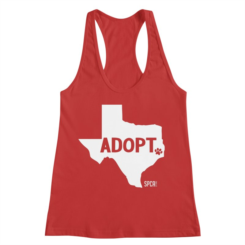 Texas Adopts! Women's Racerback Tank by SPCA of Texas' Artist Shop