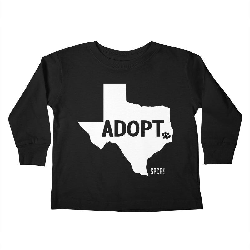 Texas Adopts! Kids Toddler Longsleeve T-Shirt by SPCA of Texas' Artist Shop