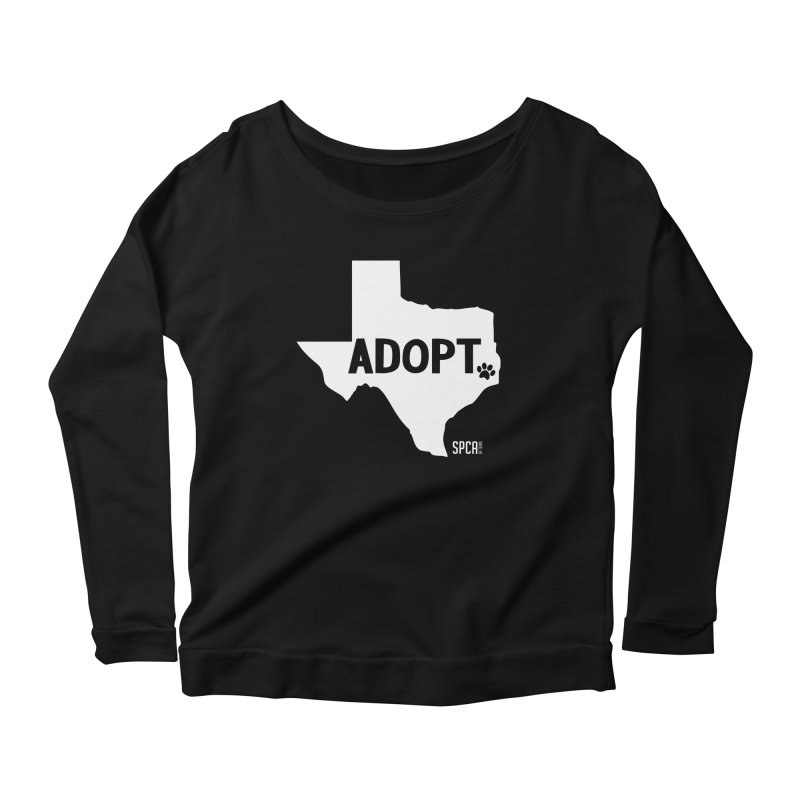 Texas Adopts! Women's Scoop Neck Longsleeve T-Shirt by SPCA of Texas' Artist Shop