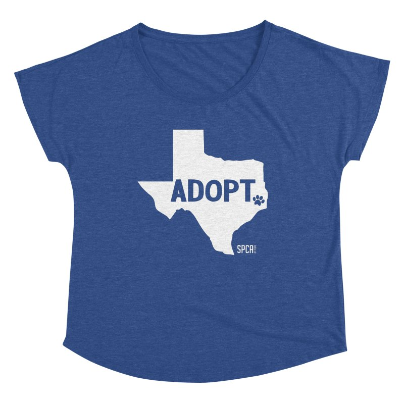 Texas Adopts! Women's Dolman Scoop Neck by SPCA of Texas' Artist Shop