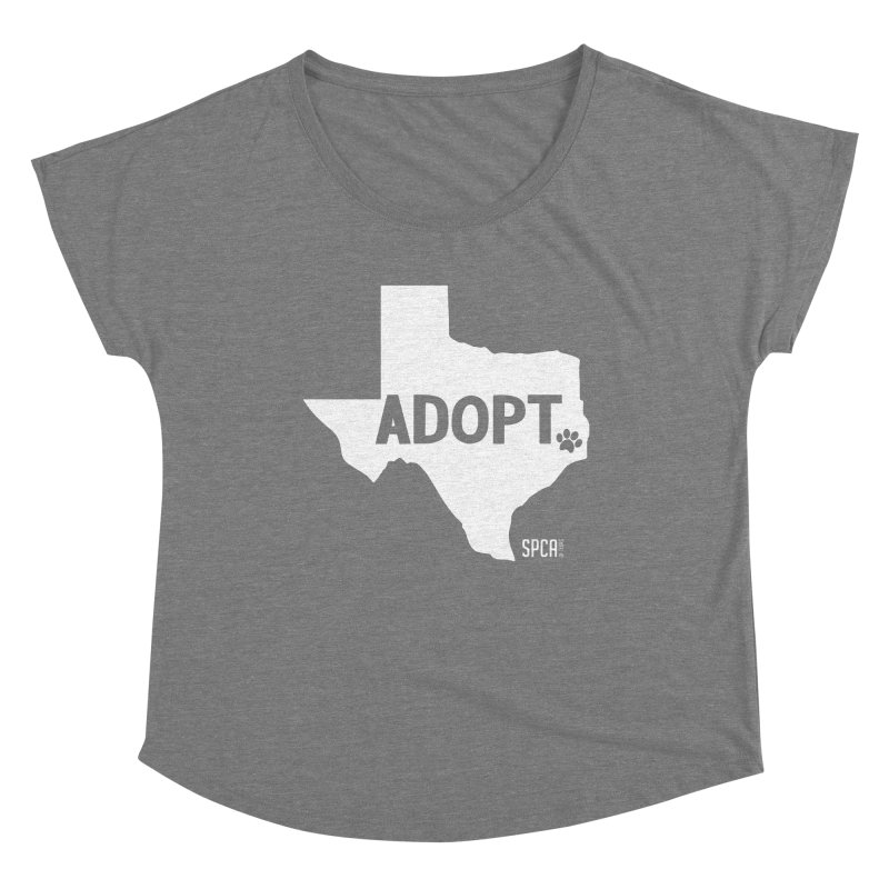 Texas Adopts! Women's Scoop Neck by SPCA of Texas' Artist Shop