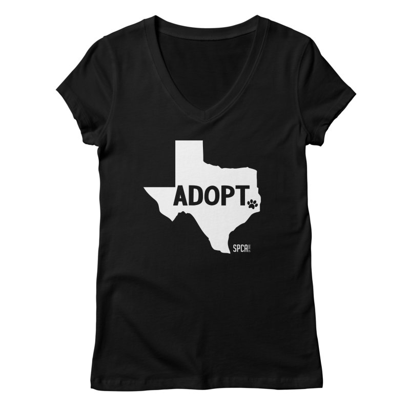 Texas Adopts! Women's V-Neck by SPCA of Texas' Artist Shop