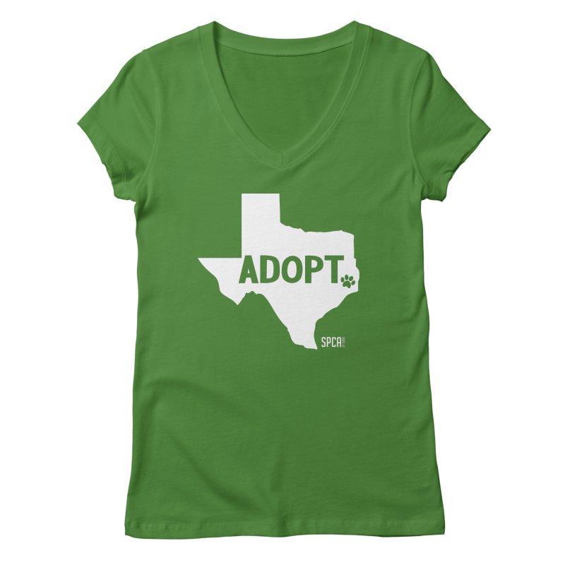 Texas Adopts! Women's Regular V-Neck by SPCA of Texas' Artist Shop
