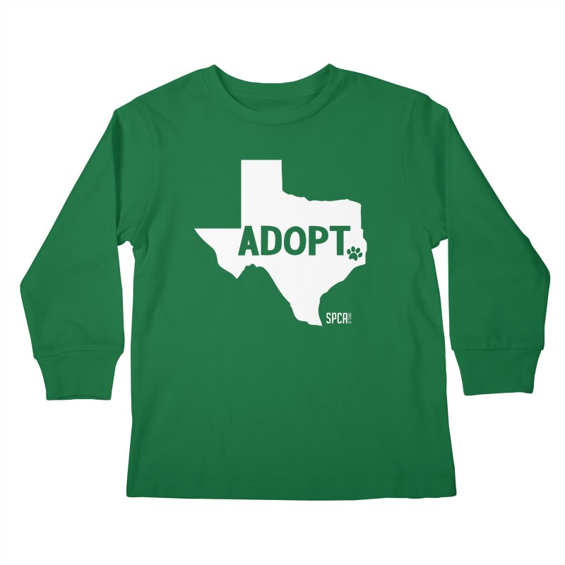 Texas Adopts! Kids Longsleeve T-Shirt by SPCA of Texas' Artist Shop