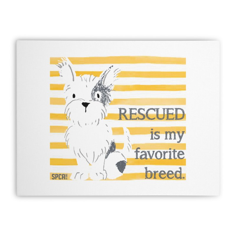 Rescued is my favorite breed. Home Stretched Canvas by SPCA of Texas' Artist Shop