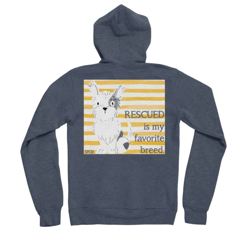 Rescued is my favorite breed. Men's Sponge Fleece Zip-Up Hoody by SPCA of Texas' Artist Shop