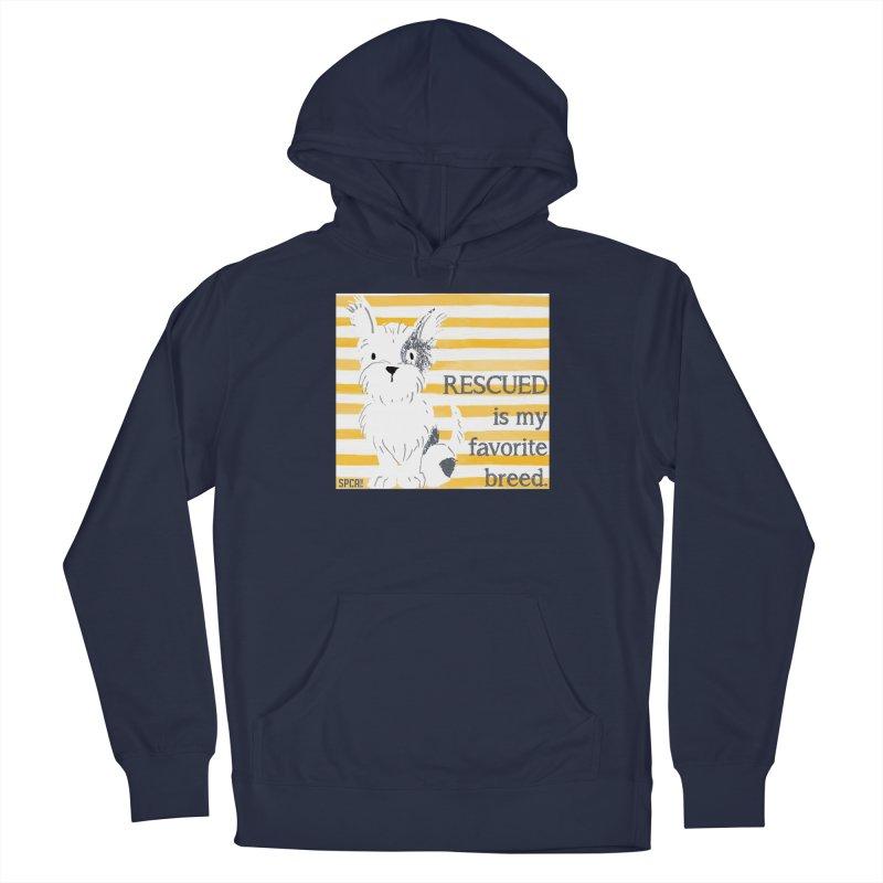 Rescued is my favorite breed. Men's Pullover Hoody by SPCA of Texas' Artist Shop