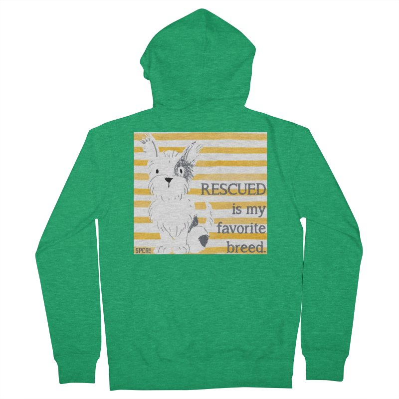 Rescued is my favorite breed. Men's French Terry Zip-Up Hoody by SPCA of Texas' Artist Shop