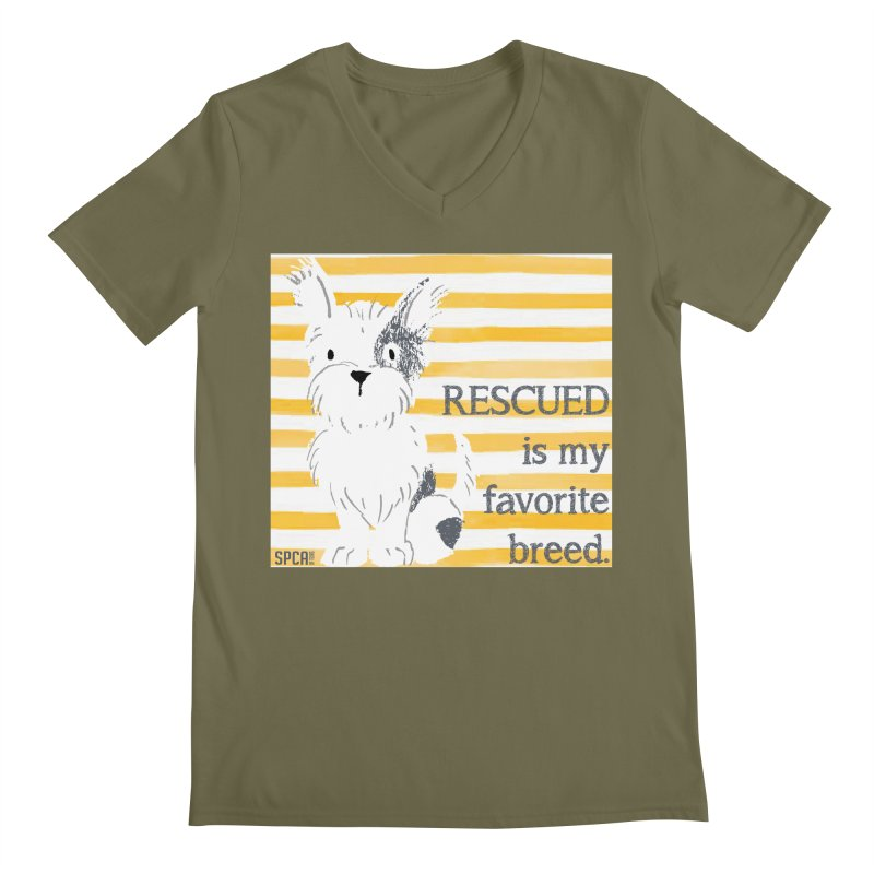 Rescued is my favorite breed. Men's V-Neck by SPCA of Texas' Artist Shop