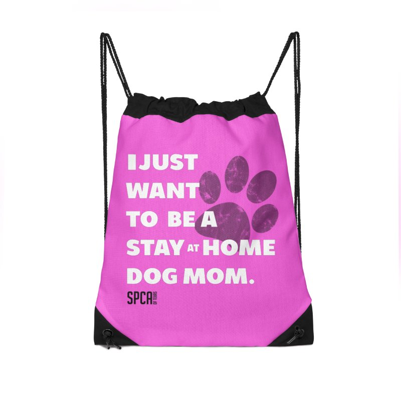 Dog Mom Accessories Drawstring Bag Bag by SPCA of Texas' Artist Shop