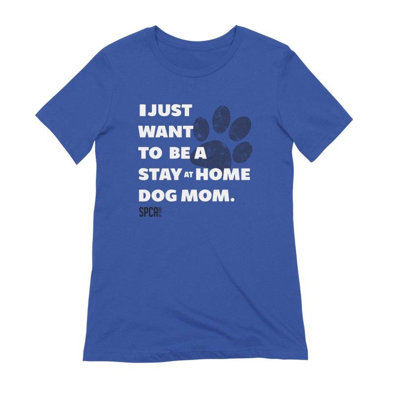 Dog Mom Women's Extra Soft T-Shirt by SPCA of Texas' Artist Shop