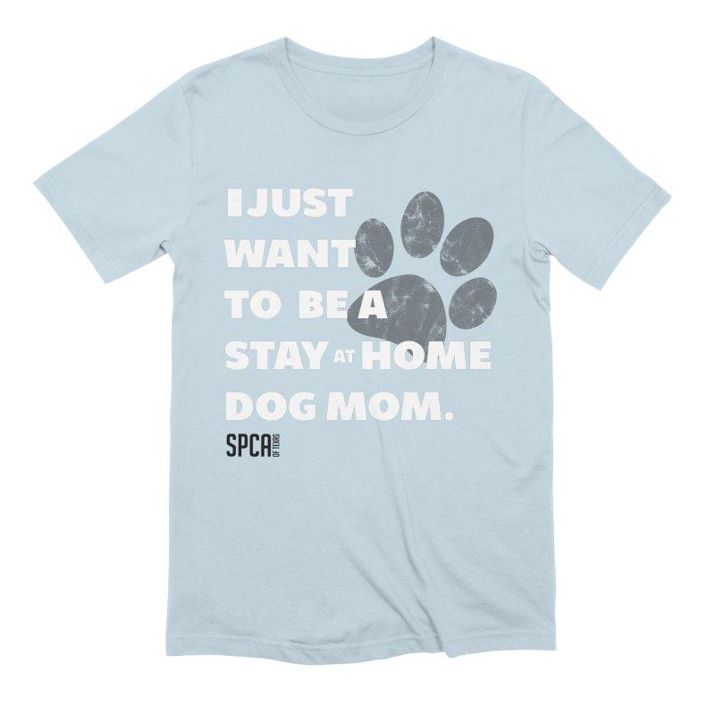 Dog Mom Men's Extra Soft T-Shirt by SPCA of Texas' Artist Shop