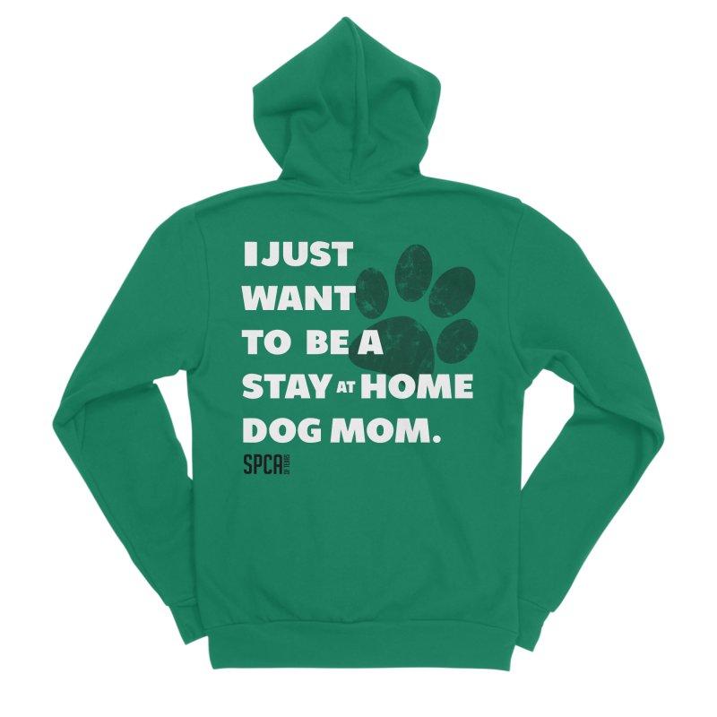 Dog Mom Women's Sponge Fleece Zip-Up Hoody by SPCA of Texas' Artist Shop