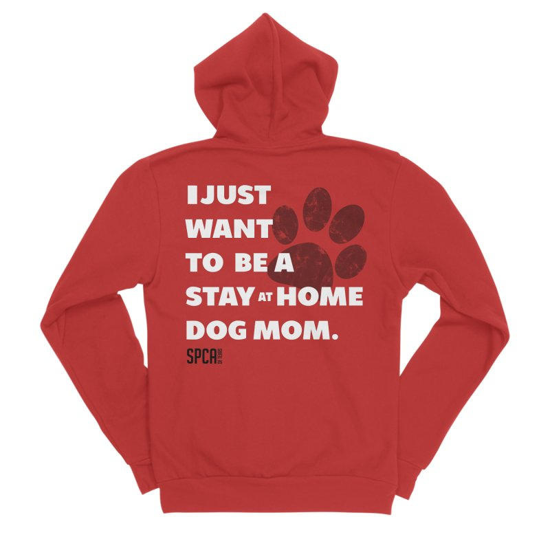 Dog Mom Men's Sponge Fleece Zip-Up Hoody by SPCA of Texas' Artist Shop