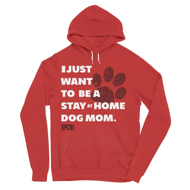 Dog Mom Men's Sponge Fleece Pullover Hoody by SPCA of Texas' Artist Shop