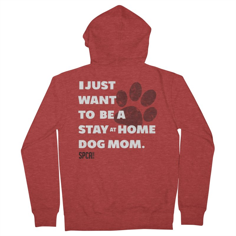 Dog Mom Men's French Terry Zip-Up Hoody by SPCA of Texas' Artist Shop