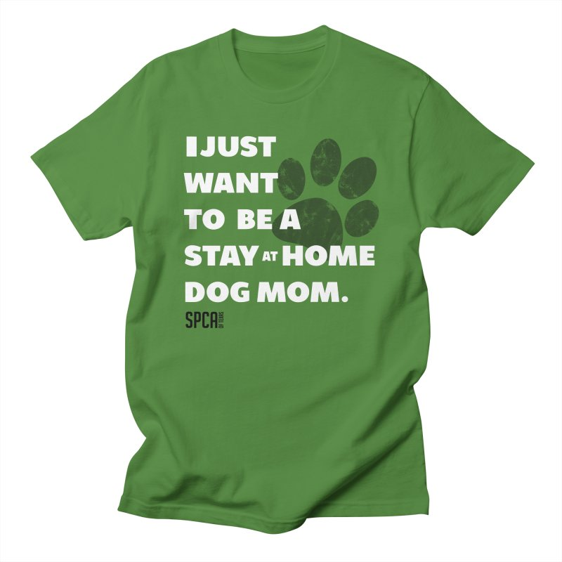 Dog Mom Men's T-Shirt by SPCA of Texas' Artist Shop