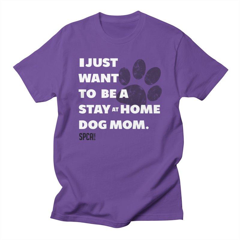 Dog Mom Men's Regular T-Shirt by SPCA of Texas' Artist Shop
