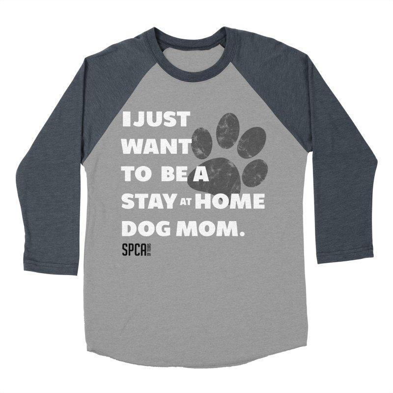 Dog Mom Men's Baseball Triblend Longsleeve T-Shirt by SPCA of Texas' Artist Shop