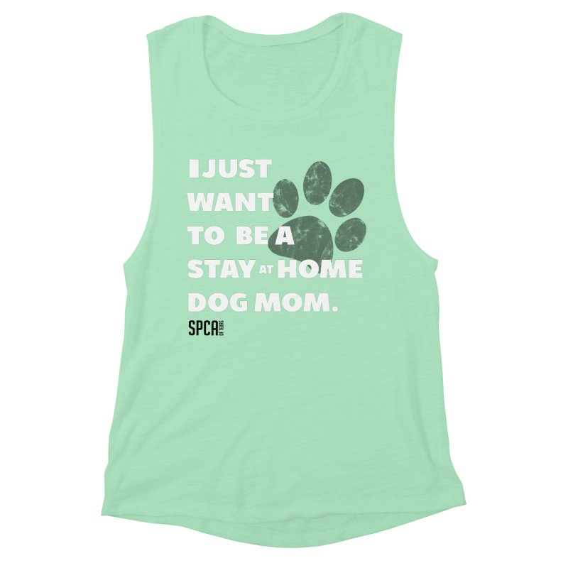 Dog Mom Women's Muscle Tank by SPCA of Texas' Artist Shop