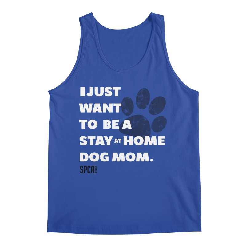 Dog Mom Men's Regular Tank by SPCA of Texas' Artist Shop