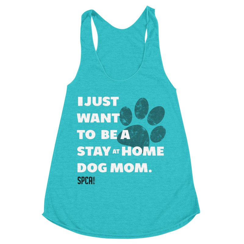 Dog Mom Women's Racerback Triblend Tank by SPCA of Texas' Artist Shop