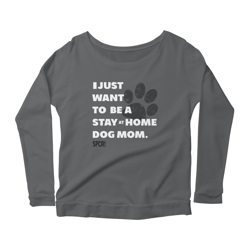 Dog Mom Women's Scoop Neck Longsleeve T-Shirt by SPCA of Texas' Artist Shop