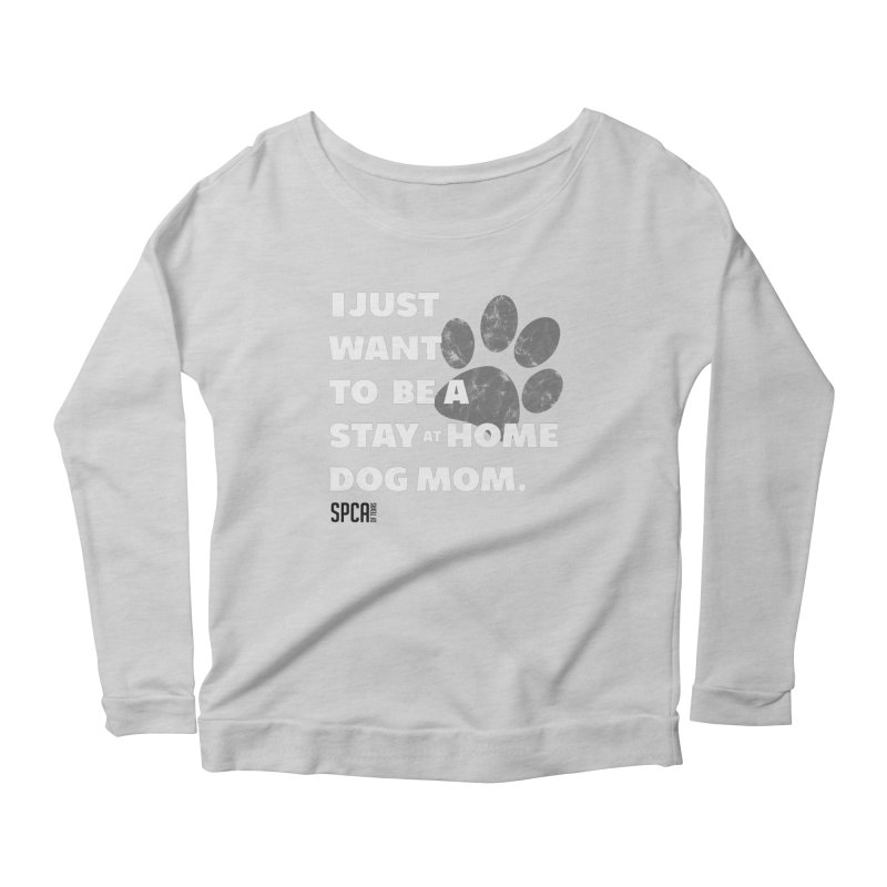 Dog Mom Women's Scoop Neck Longsleeve T-Shirt by SPCA of Texas' Artist Shop