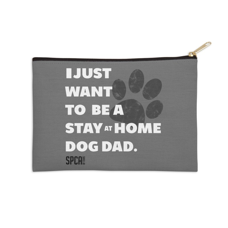 Dog Dad Accessories Zip Pouch by SPCA of Texas' Artist Shop