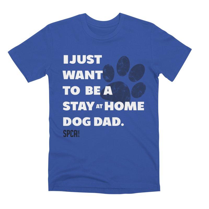 Dog Dad Men's Premium T-Shirt by SPCA of Texas' Artist Shop
