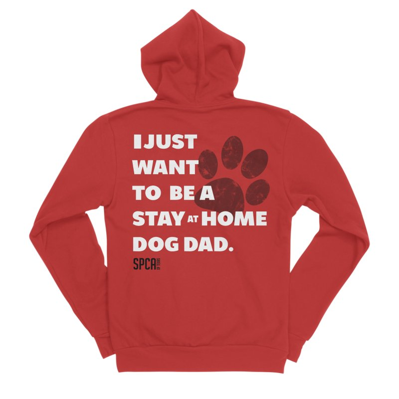 Dog Dad Men's Sponge Fleece Zip-Up Hoody by SPCA of Texas' Artist Shop