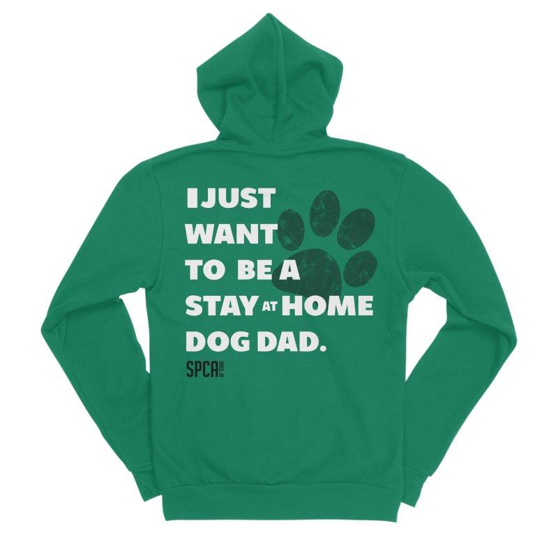 Dog Dad Men's Sponge Fleece Zip-Up Hoody by SPCA of Texas' Artist Shop
