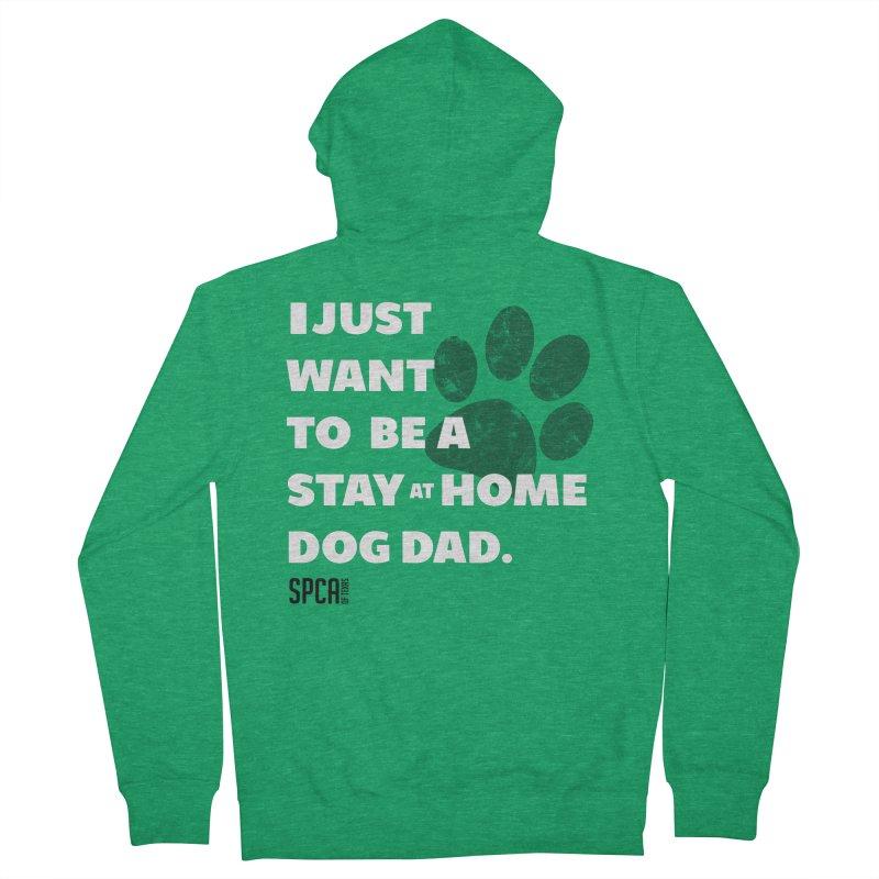 Dog Dad Men's Zip-Up Hoody by SPCA of Texas' Artist Shop