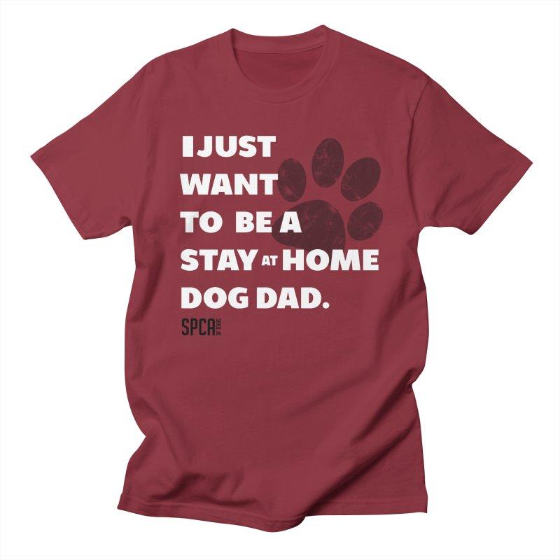 Dog Dad Men's Regular T-Shirt by SPCA of Texas' Artist Shop
